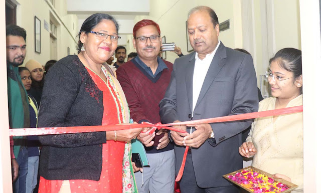Vice Chancellor Dinesh Kumar at JC Bose University dedicated the Language Lab and Media Lab to the students.