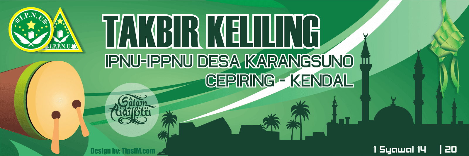 Download Design Spanduk/MMT Takbir Keliling (.cdr)