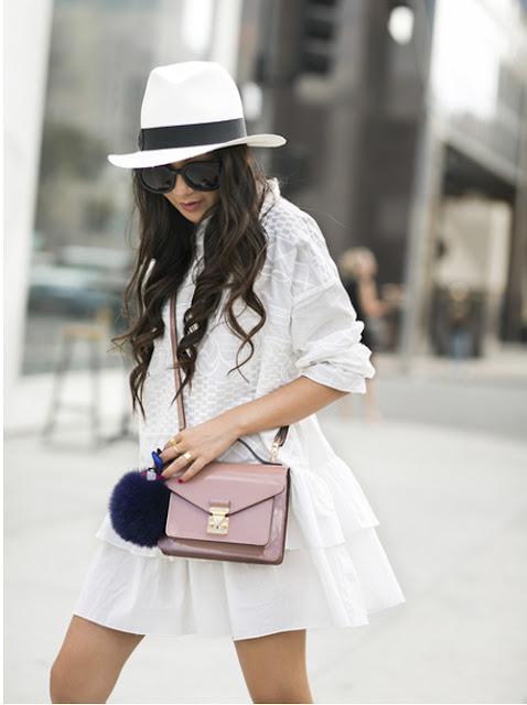 I m seeing fur pom pom keychains on handbags everywhere. Either colorful 30a18e3dd