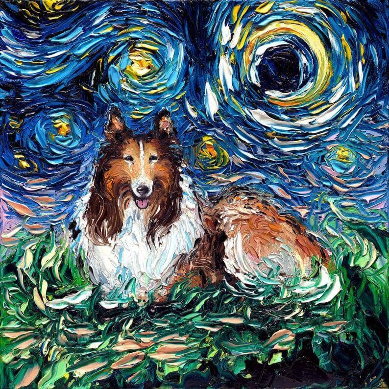 09-Collie-Aja-Trier-The-Starry-Night-Dog-Paintings-www-designstack-co
