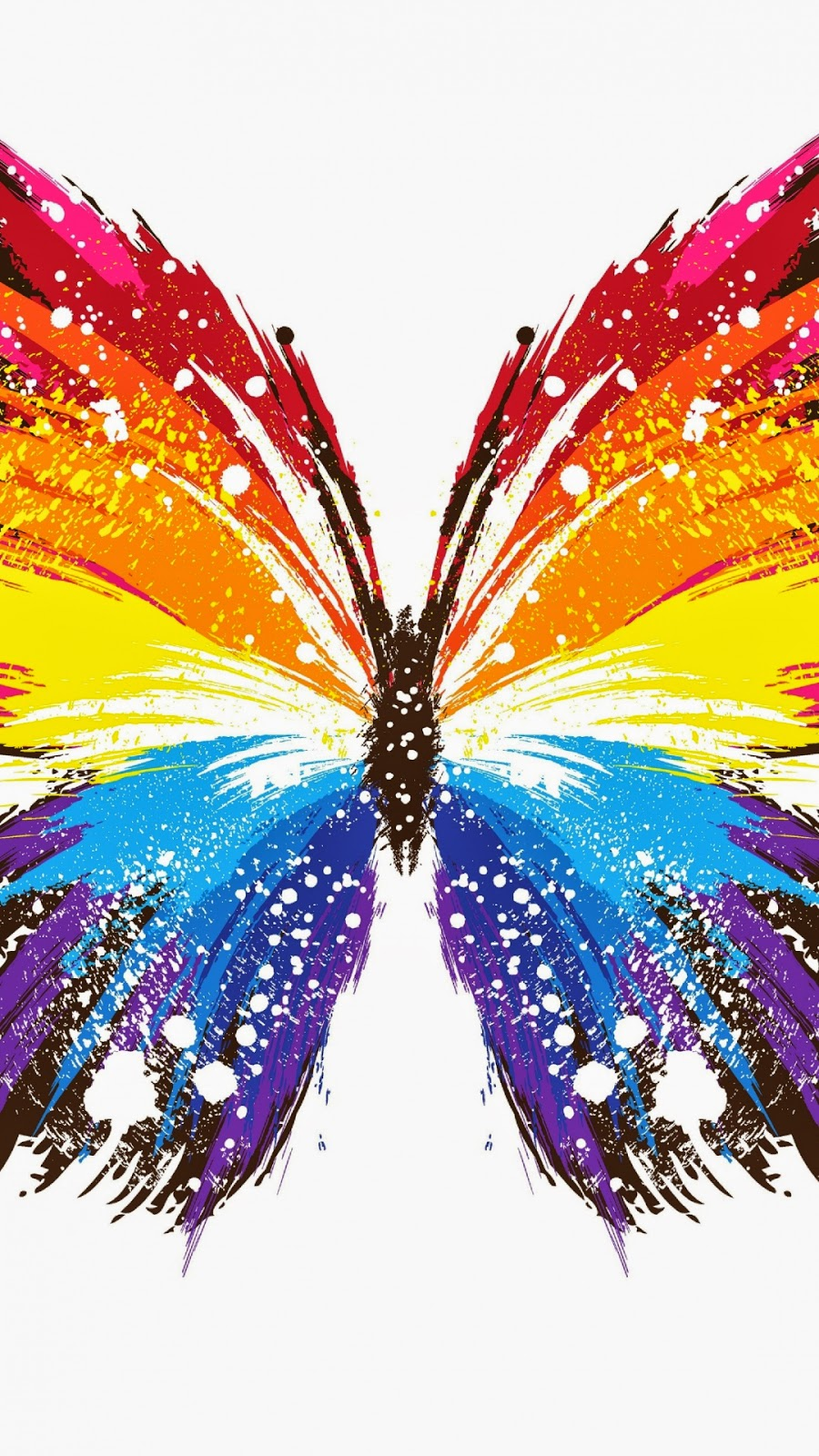 download wallpaper multicolored butterflies - photo #7