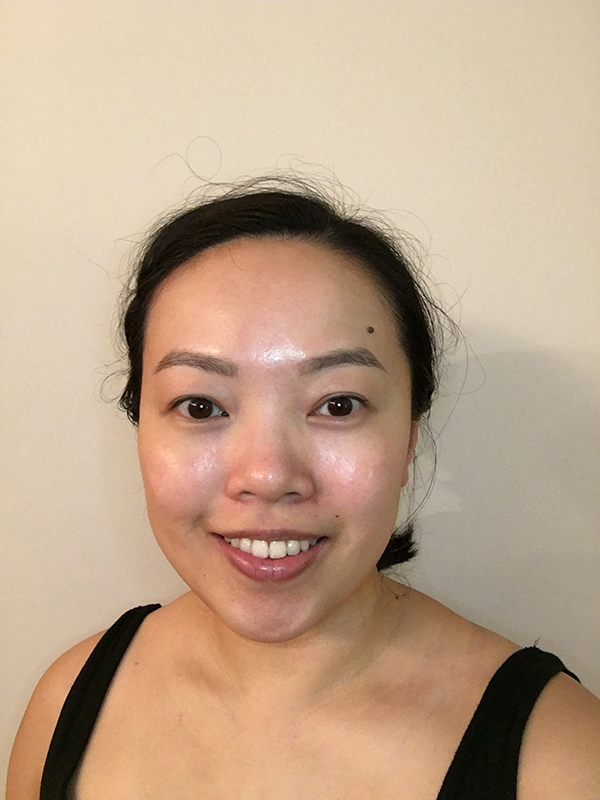Tinted eyebrows after using Maybelline Tattoo Brow Long Lasting Tint