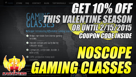 NoScope Gaming Glasses, Get A 10% Off This Valentine