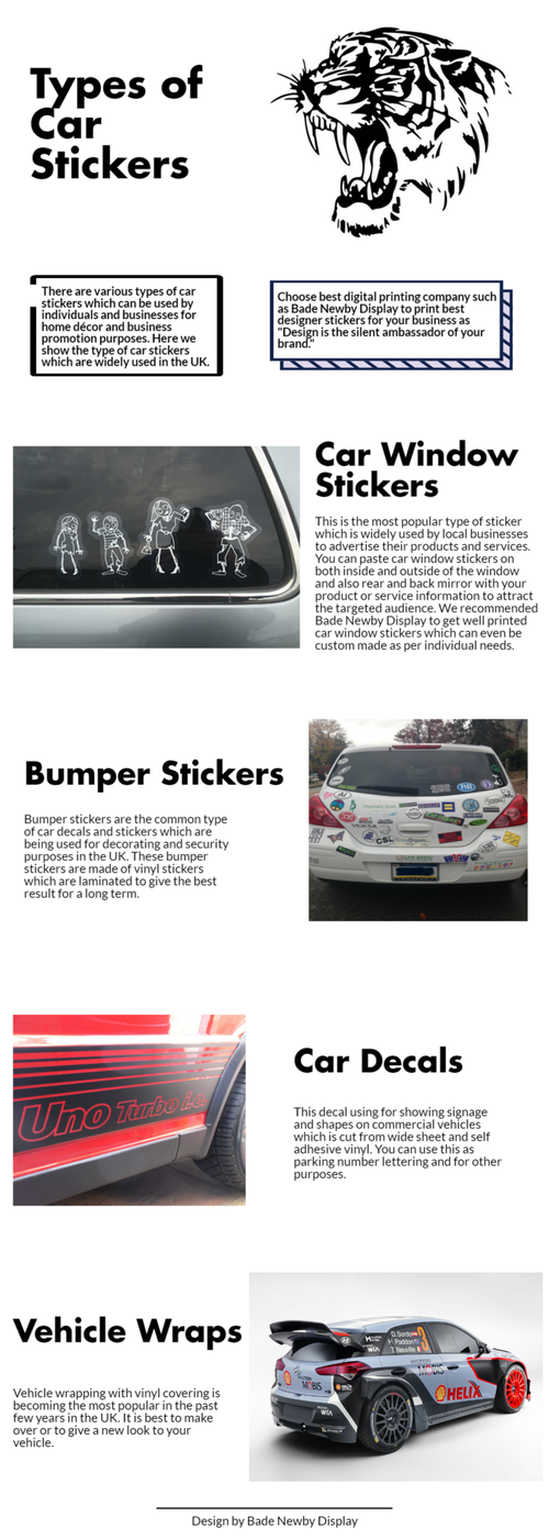 Types of window car stickers
