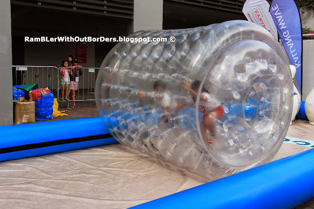Zorbing, SEA Games Carnival, Sports Hub, Singapore