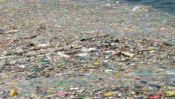 El oceano Pacífico se esta llenando de basura.