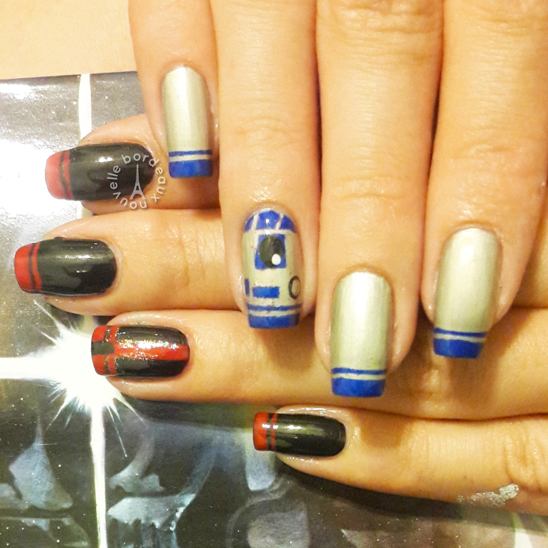 Star Wars & Lord of the Rings | Nail Art - Bordeaux Nouvelle