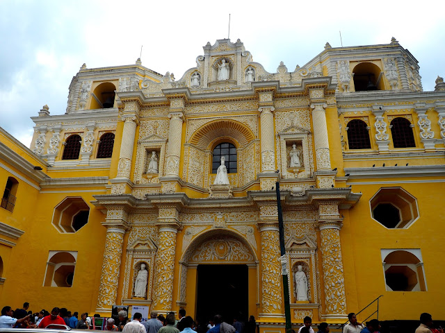 Decorative church facade in Antigua, Guatemala