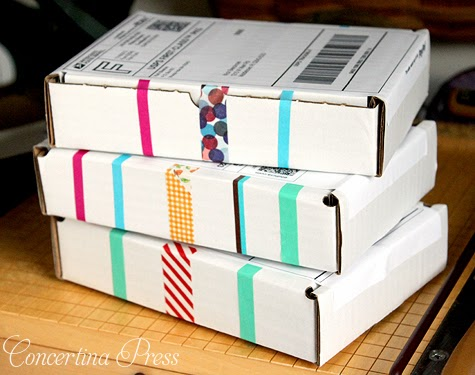 using washi tape instead of packing tape when shipping packages
