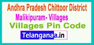 East Godavari District Malikipuram Mandal and Villages Pin Codes in Andhra Pradesh State