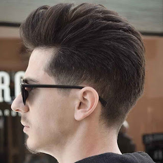 Pompadour for Thick Hairs