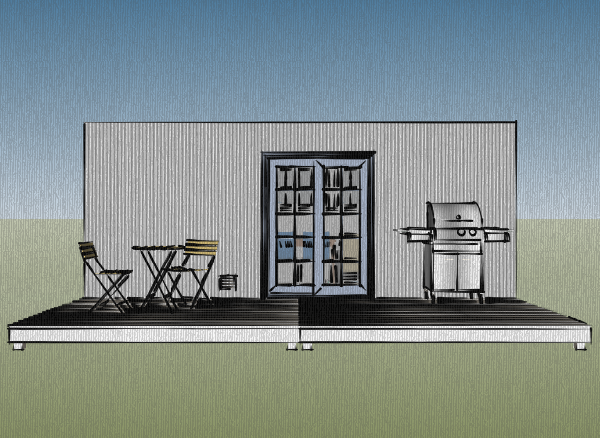 container homes design. Front View Of The 8  X 20 160 Square Foot Container Home Design With An Deck Small Scale Homes New Shipping Container Home Design