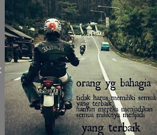 ata caption bijak bikers yang romantis