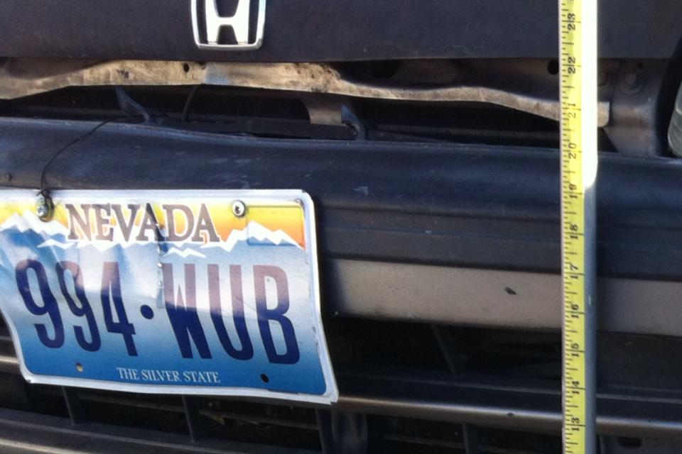 Mirrored License Plate Honda