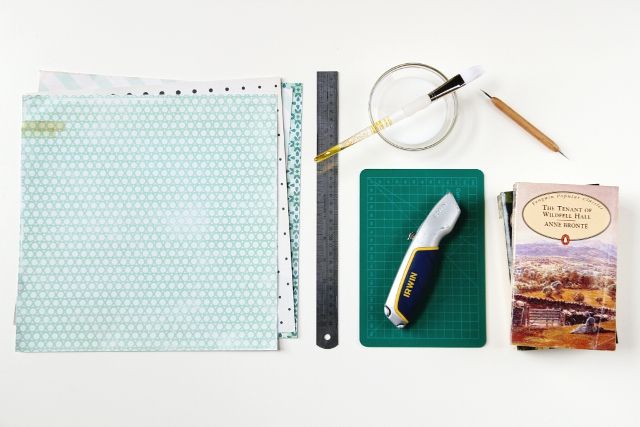 Materials needed to make Diy Scrapbook Paper Book Covers