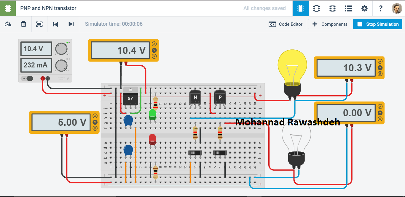 PNP and NPN transistor - M.B Raw