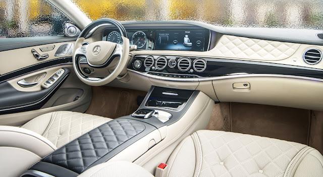 Bảng Taplo Mercedes Maybach S500 2017 thiết kế rất sang trọng và hiện đại