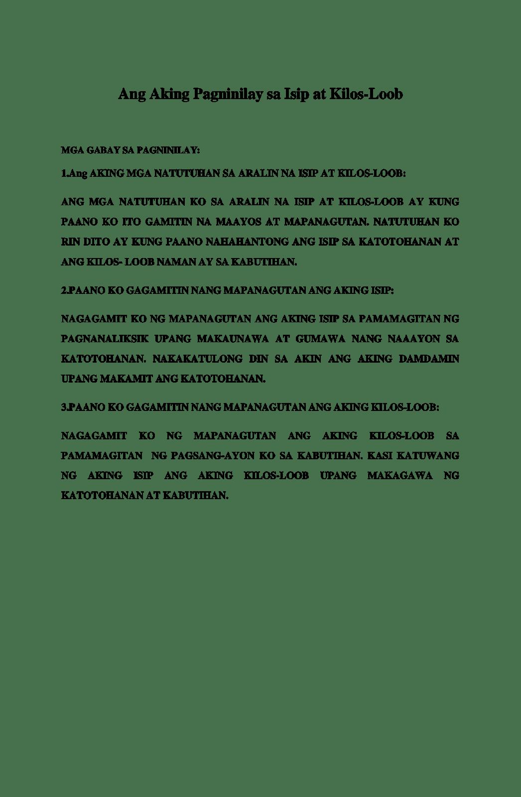 Ang aking talambuhay by sheena bernal