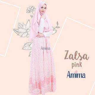 Gamis Amima Zalsa Dress Pink