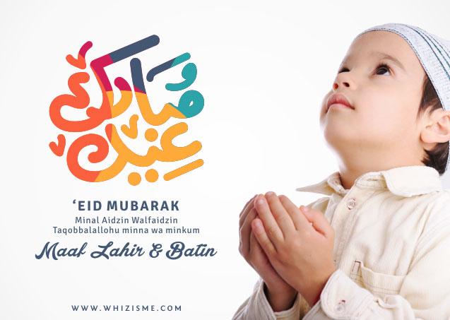 Selamat Hari Raya Idul Fitri Ya Maafkan Segala Khilaf Design