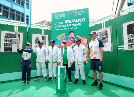 Grab Kobarkan Semangat Kemenagan Jelang Asian Games 2018