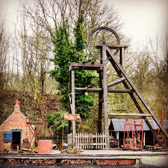Historic coal mine at the Black Country Living Museum near Birmingham, England