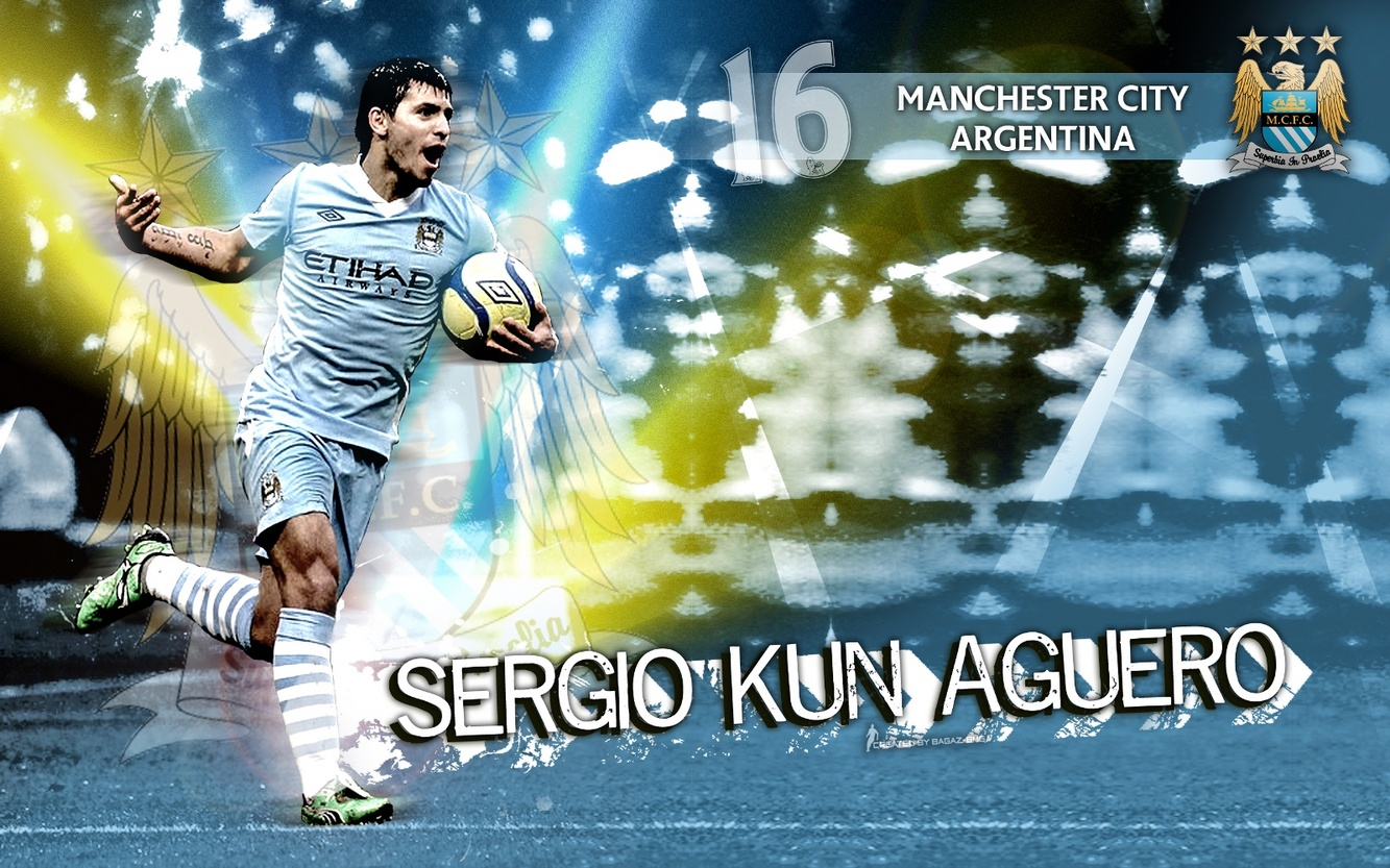 Kun Aguero Wallpaper Manchester City Fc: Kun Aguero Manchester City FC Best Player Wallpaper