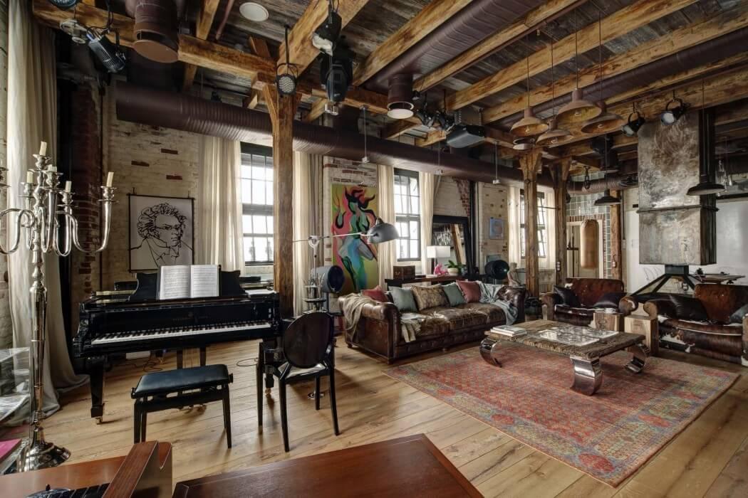 sala decorada con estilo industrial decoraci n de salas. Black Bedroom Furniture Sets. Home Design Ideas