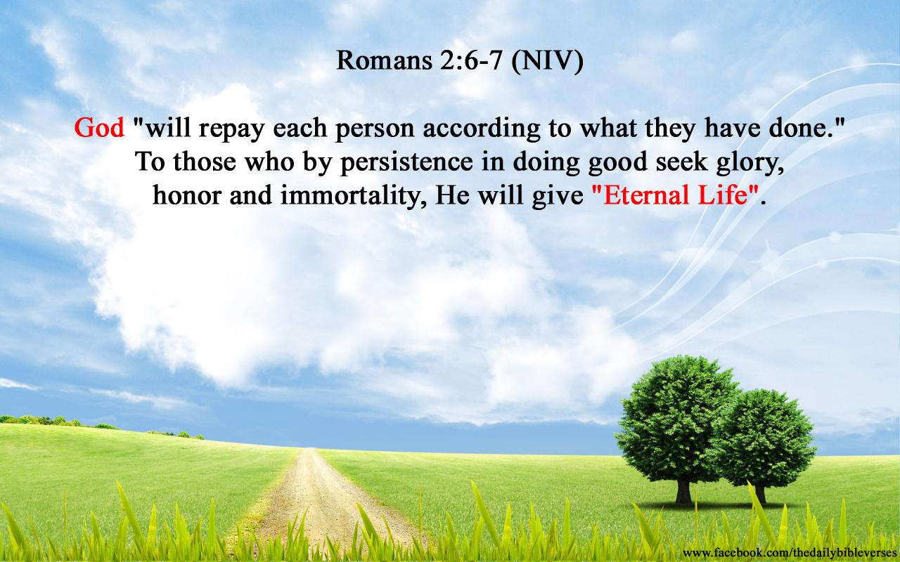 daily bible verses romans 2 6 7