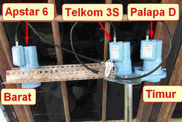 Tutor Tracking Apstar 6 dan Palapa D Telkom 3s Dalam 1 Dish