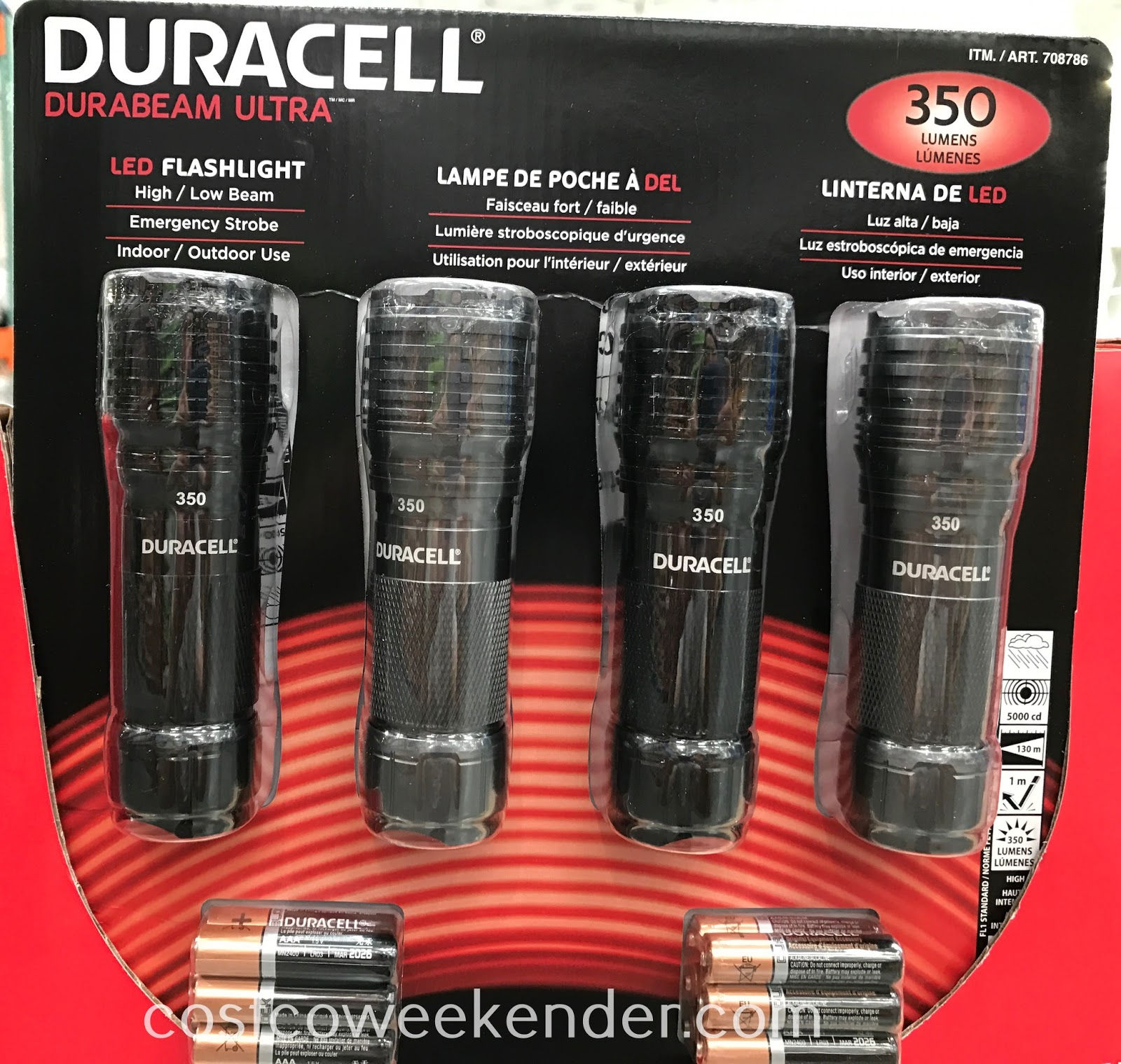 Don't get stuck in an emergency without light with the Duracell Durabeam Ultra LED Flashlight 350 Lumens