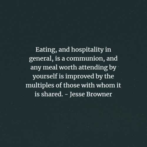 Hospitality quotes and sayings that warms the heart