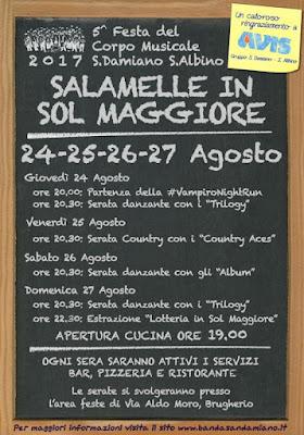 Salamelle in Sol Maggiore 24-25-26-27 agosto Brugherio