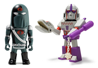 Transformers vs G.I. Joe Megatron & Cobra Commander Variant Medium Art Figures by Tom Scioli x Kidrobot