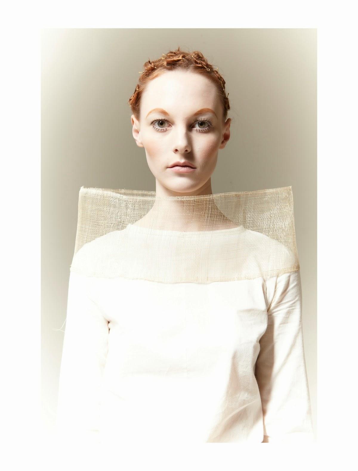 Pale Beauty Portrait Of Blond Woman Stock Image: On Set Management: Blasse Schönheit