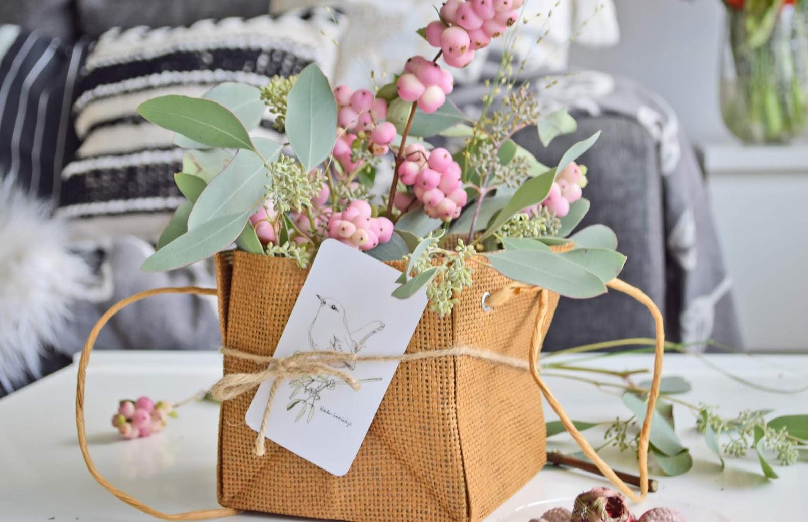 Kompozycja kwiatowa na prezent