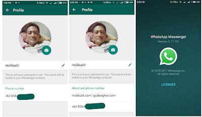 WhatsApp Kembalikan Status Teks