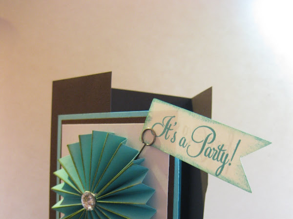 Fun Accordion Flower Party Invitation