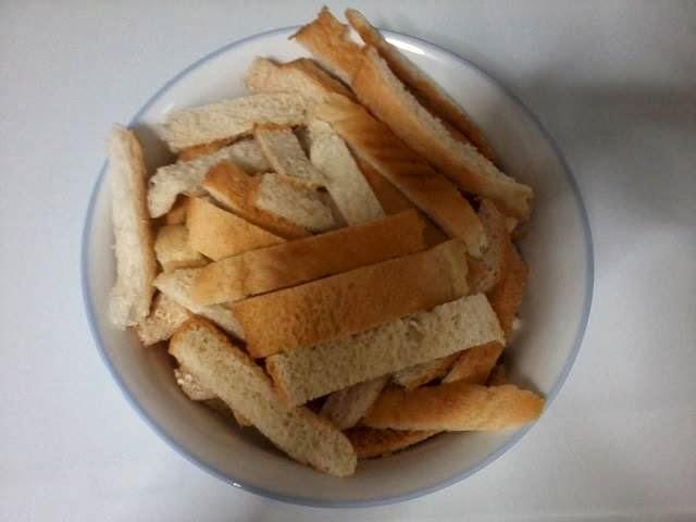 Receita de casca de pão de forma