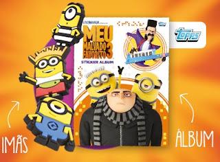 Promoção Cinemark Ganhar Álbum de Figurinhas e imã Minions