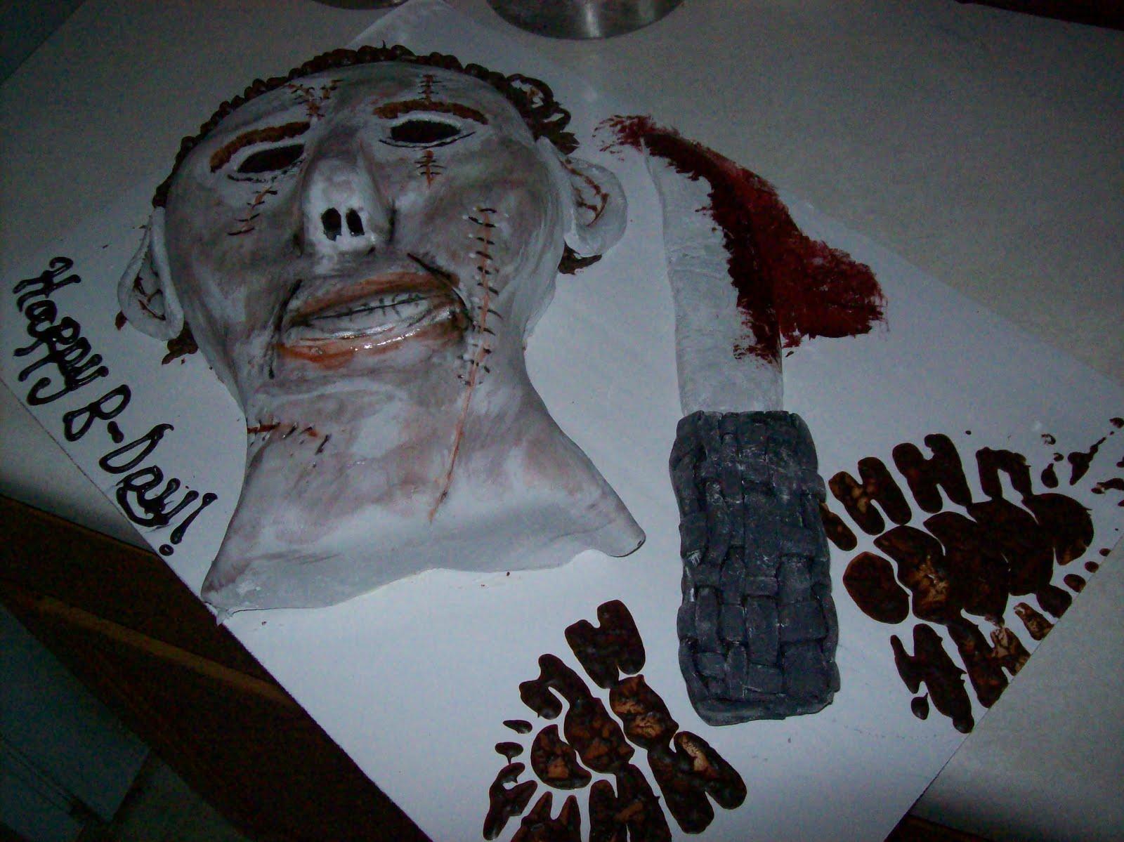 Custom Cakes By Dana 10 10 2010 Michael Myers Mask Cake