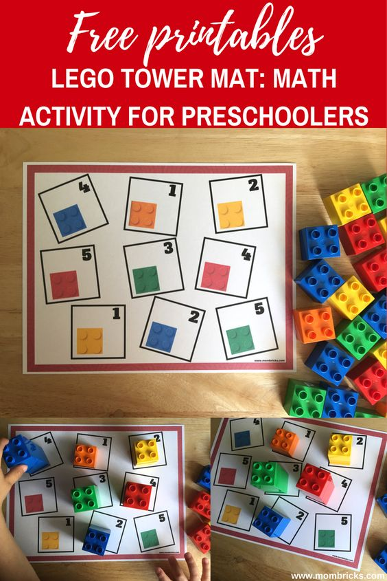 Lego Tower Mat Math Activity for Preschool