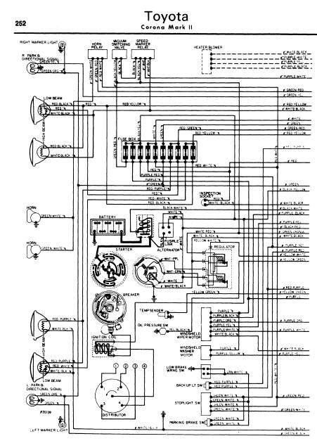 repairmanuals  Toyota Corona Mark II 196270    Wiring       Diagram