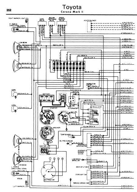 repairmanuals: Toyota Corona Mark II 196270 Wiring Diagram