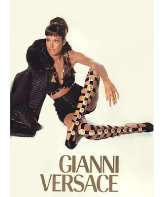 Versace 1992 Miss SM bondage botas gladiador