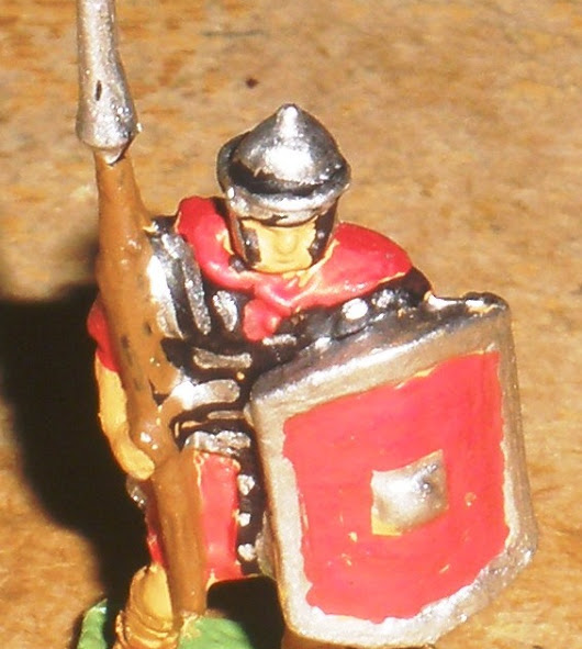 RE6A, Roman Legionary, marching, half armour pilum and shield