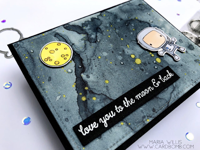 #cardbomb, #simonsaysstamps, #reverseconfetti, #tonicstudiosusa, #nuvoshimmerpowder, #moonmen, #watercolor, #art, #outerspace, #copics, #color, #paper, #stamping, #ink, #card, #cardmaking, #videotutorial, #video,