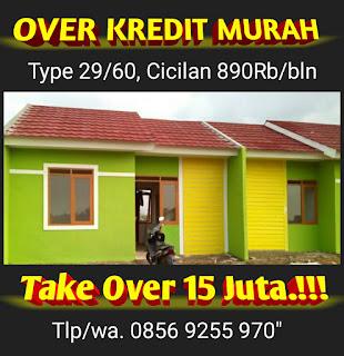 Rumah Over Kredit Murah di Cikarang utara Cicilan  800 ribuan