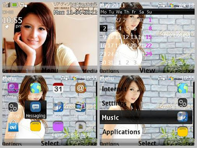 Leah dizon theme for Nokia C3-00 X2-01 Asha 302 Asha 200 Asha 201