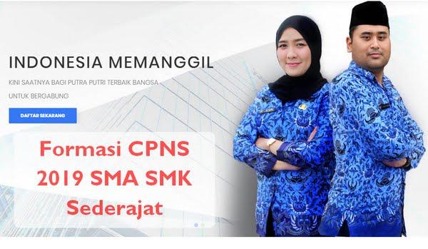 Formasi CPNS 2019 SMA SMK Sederajat